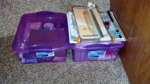 All my craft stuff down to two 15qt boxes